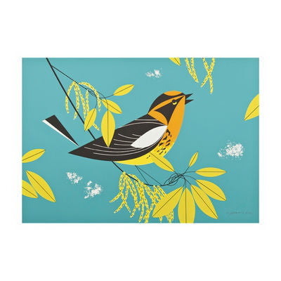 Pomegranate - Boxed Notes - Charley Harper - Blackburnian Warbler