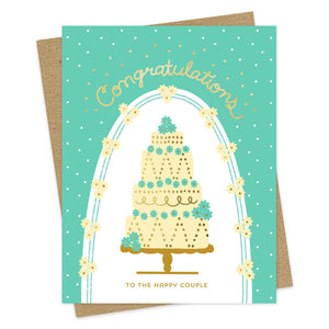 Night Owl Goods - Greeting Card - Congratulations To The Happy Couple - Cake