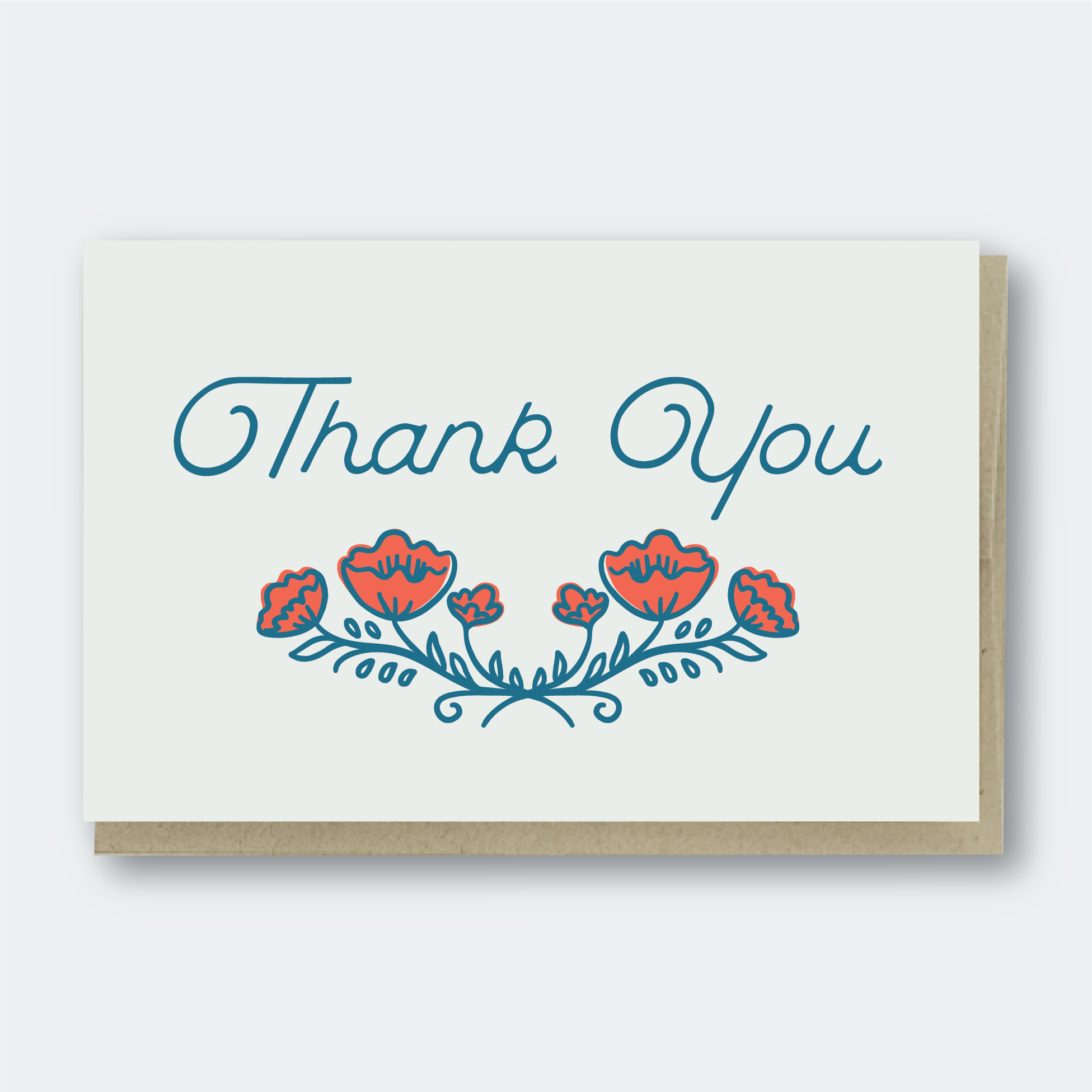 Pike Street Press - Greeting Card - Thank You Poppies