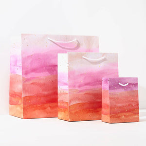 Small Pink Watercolour Gift Bag