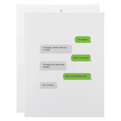 Classy Cards - Greeting Card - Dad Joke Texts
