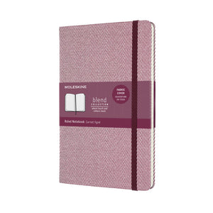 Moleskine Limited Edition Notebook - Purple Blend Herringbone Hard Cover - Lined