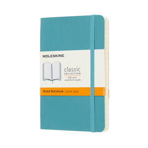 Moleskine Notebook Classic - Pocket Reef Blue Hard Cover - Lined
