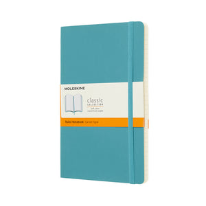 Moleskine Notebook Classic - Large Reef Blue Soft Cover - Lined