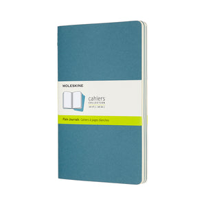 Moleskine Cahier 3 Pack - Large - Plain - Brisk Blue