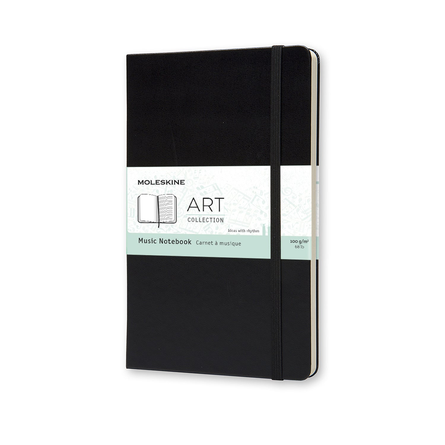 Moleskine Notebook Classic - Large Hard Black Cover - Music Staff