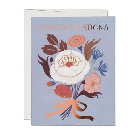 Red Cap Cards - Greeting Card - Congratulations - Copper Bouquet