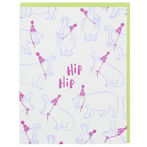 Smudge Ink - Greeting Card - Party Hippos