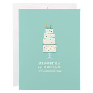 Classy Cards - Greeting Card - Tall Cake