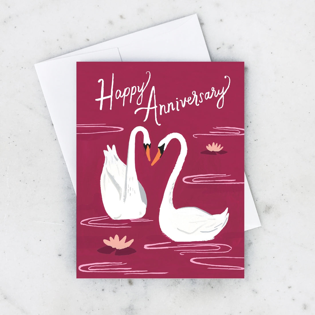 Idlewild - Greeting Card - Anniversary Swans