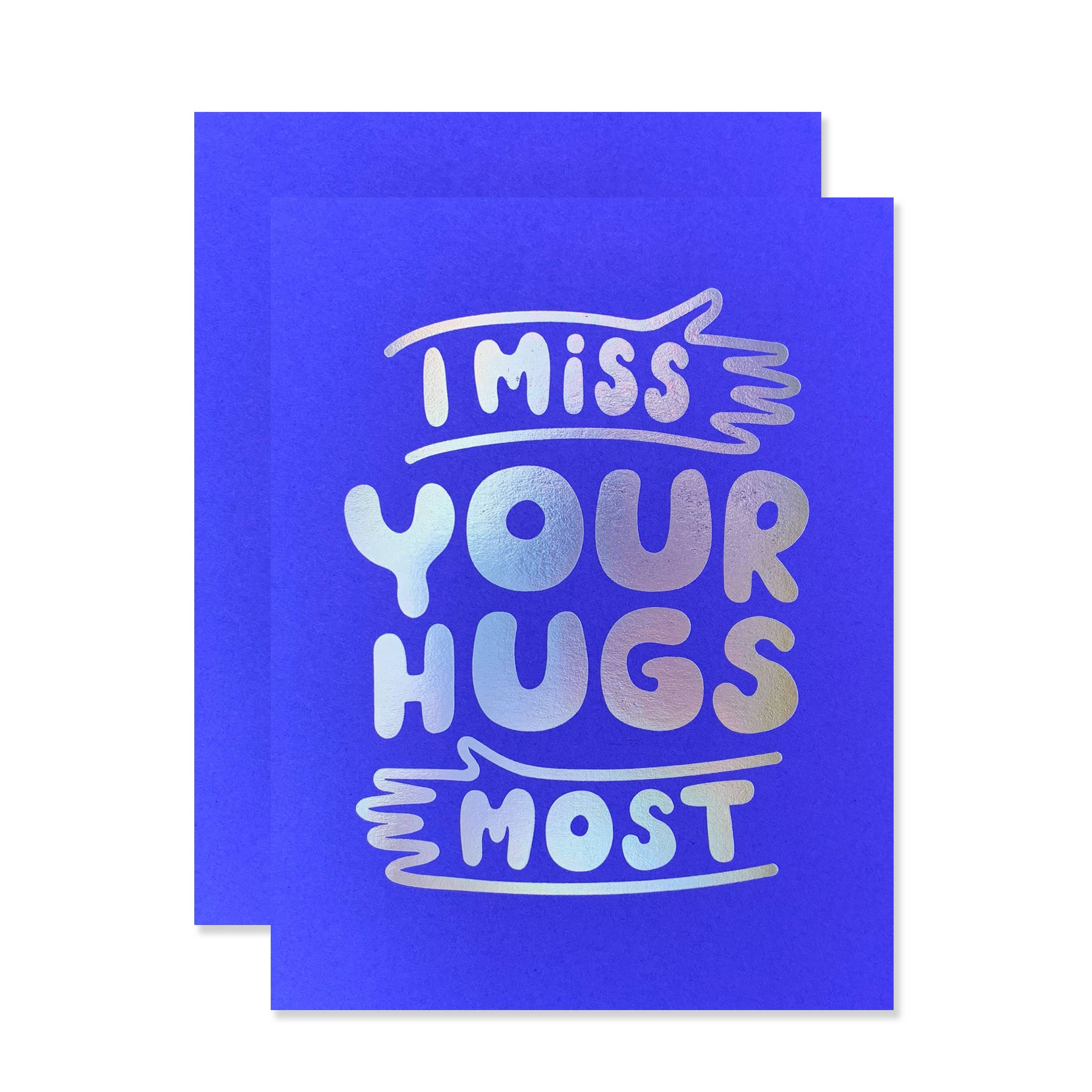 The Social Type - Greeting Card - Miss Your Hugs