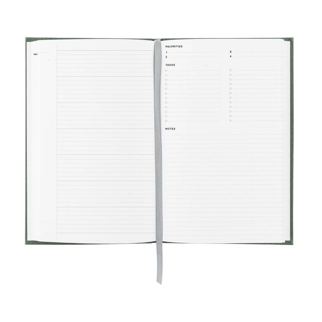 Appointed Undated Year Task Book - Fern Green