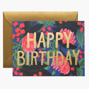 Rifle Paper Co. Greeting Card - Floral Foil Birthday