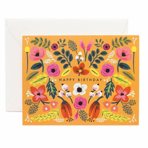 Rifle Paper Co. - Greeting Card - Birthday - Happy Birthday - Folk Floral