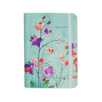 Peter Pauper - Address Book - Fuchsia Blooms