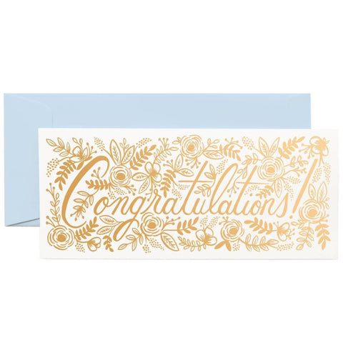 Rifle Paper Co. - Greeting Card - Congratulations - Copper Foil - Floral