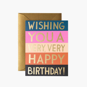 Rifle Paper Co. Greeting Card - Colour Block Birthday