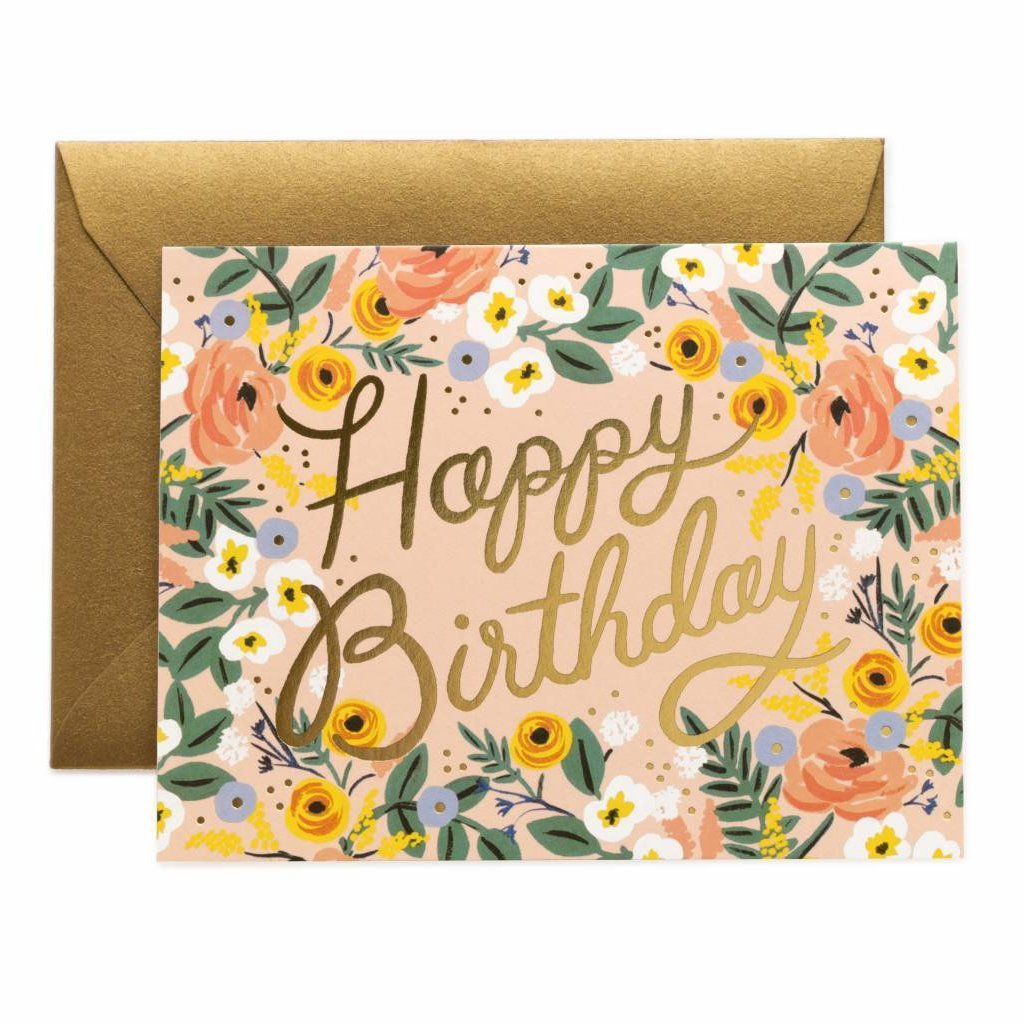 Rifle Paper Co. Greeting Card - Rose Birthday