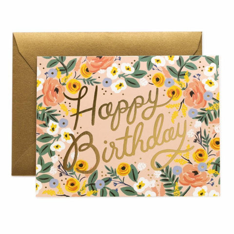 Rifle Paper Co. - Greeting Card - Birthday - Happy Birthday - Rose