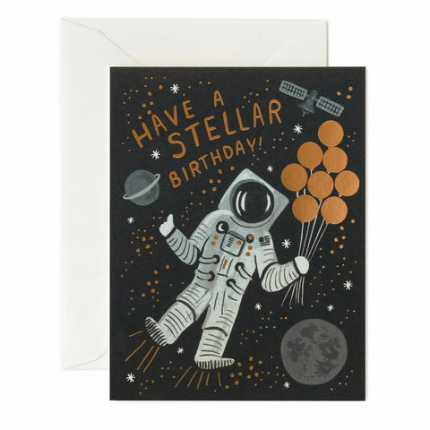Rifle Paper Co. - Greeting Card - Birthday - Have A Stellar Birthday - Astronaut