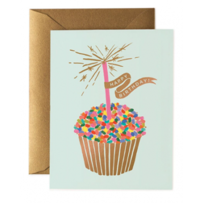 Rifle Paper Co. - Greeting Card - Birthday - Sprinkle Cupcake
