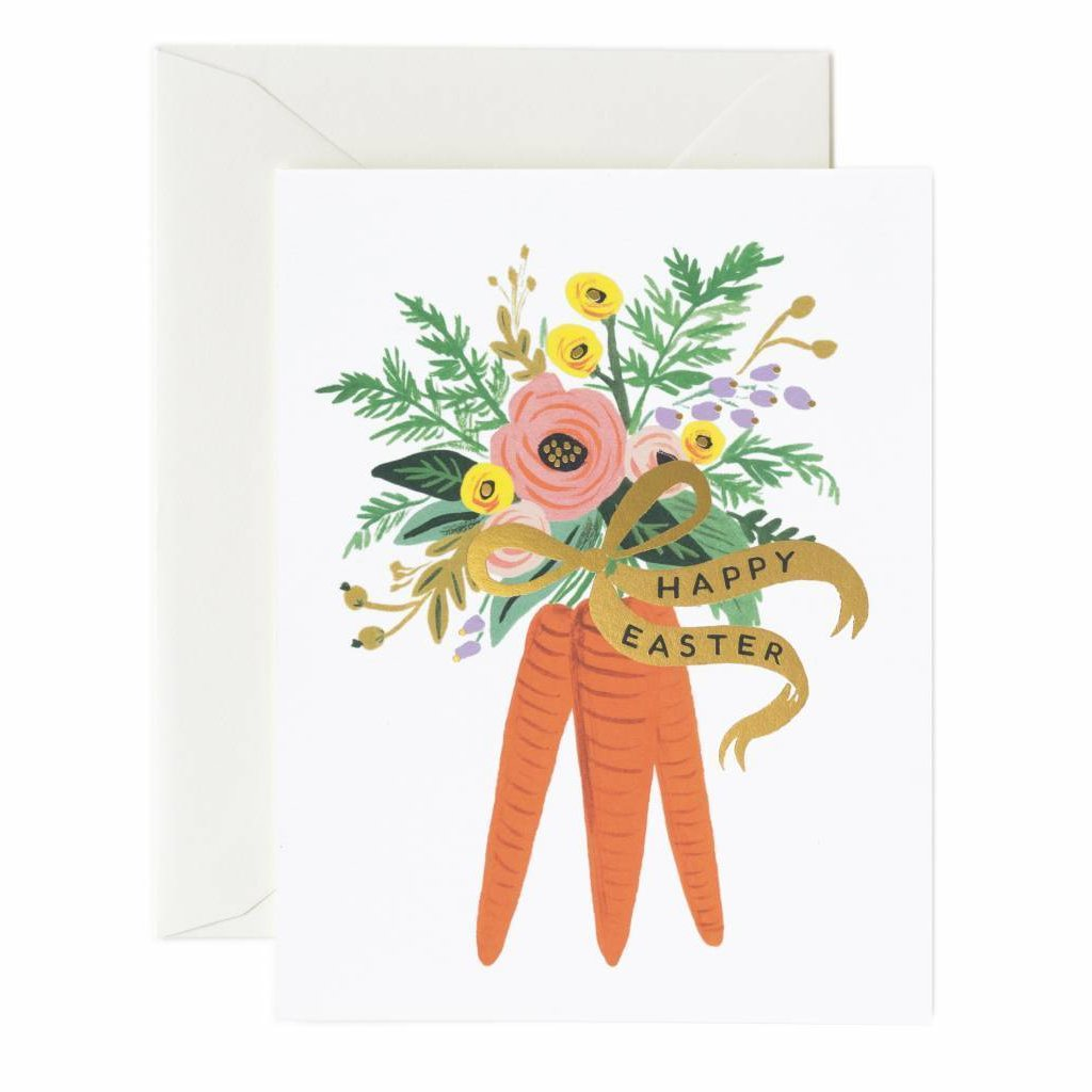 Rifle Paper Co. Greeting Card - Carrot Bouquet