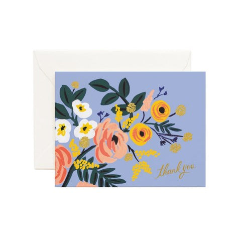 Rifle Paper Co. - Greeting Card - Thank You - Robin Rose