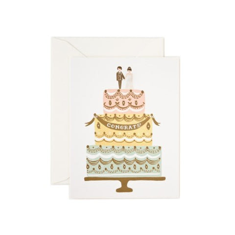 Rifle Paper Co. - Greeting Card - Congrats - Wedding Cake