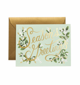 Rifle Paper Co. - Greeting Card - Holiday - Season's Greetings - Mistletoe