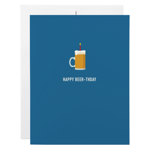 Classy Cards - Greeting Card - Happy Beer-thday