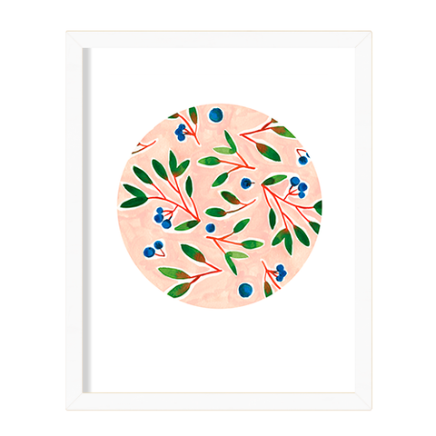 "Kat Frick Miller - Art Print - ""Blueberries"""