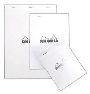 Rhodia - Notepad - Stapled - N° 12 - White - Lined
