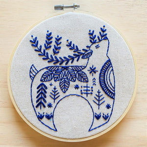 Hook, Line & Tinker - Embroidery Kit - Holiday Hygge Reindeer