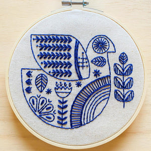 Hook, Line & Tinker - Embroidery Kit - Holiday Hygge Dove