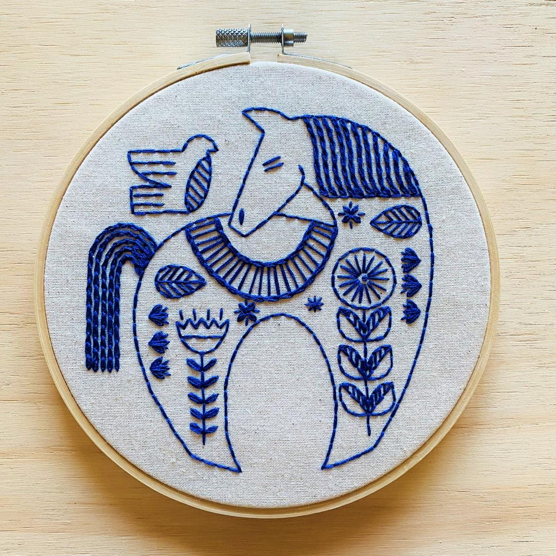Hook, Line & Tinker - Embroidery Kit - Hygge Horse