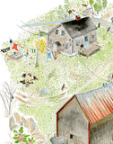 "Kat Frick Miller - Art Print - ""Old Emma's House in Spring"""
