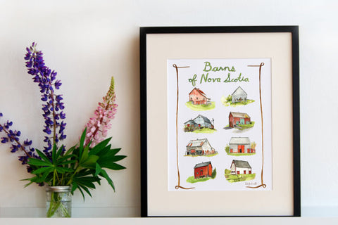 "Kat Frick Miller - Art Print - ""Barns of Nova Scotia"""