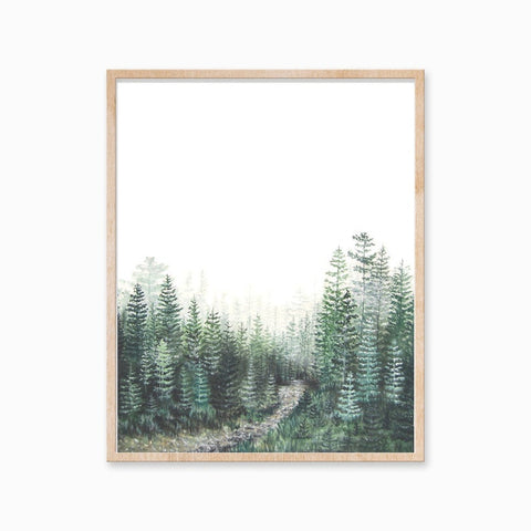Katelyn Morse - Art Print - Minimal Forest