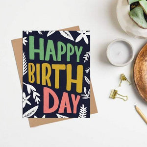 Happy Sappy Mail Greeting Card - Bright Floral Birthday