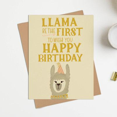 Happy Sappy Mail - Greeting Card - Llama Birthday