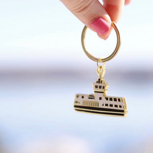 Paper Hearts - Enamel Keychain - The Ferry