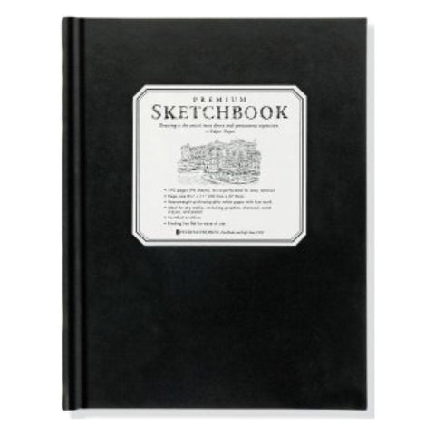 Peter Pauper - Notebook - Large Black Premium Sketchbook