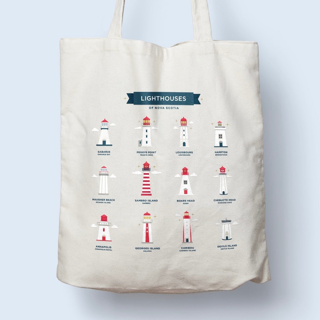 Paper Hearts Lighthouse Tote Bag