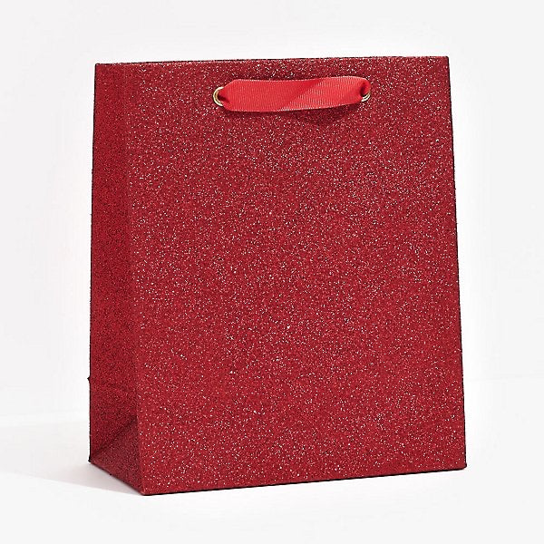 Medium Red Glitter Gift Bag