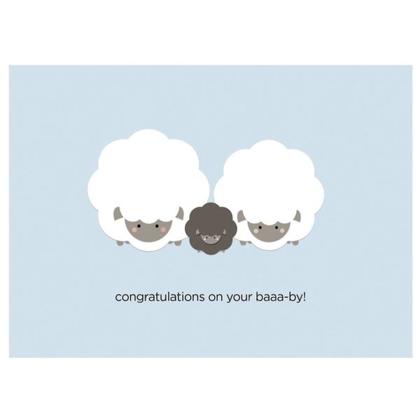 Paper Hearts - Greeting Card - Congratulations On Your Baaa-by