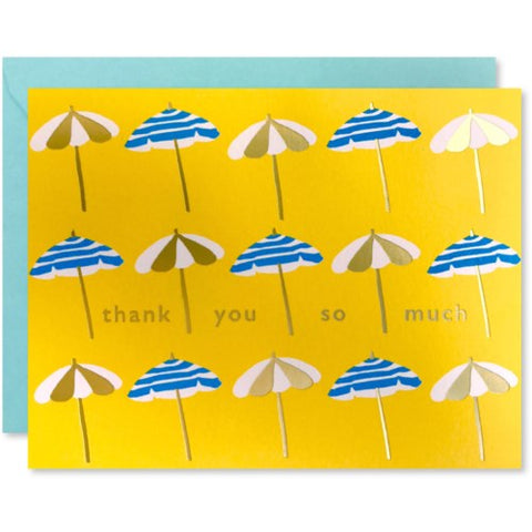 J Falkner - Greeting Card - Thank You So Much - Umbrellas