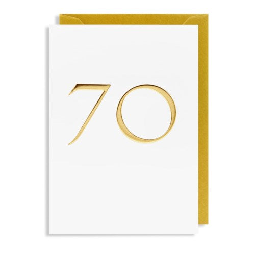 Lagom - Greeting Card - 70 - Gold Foil