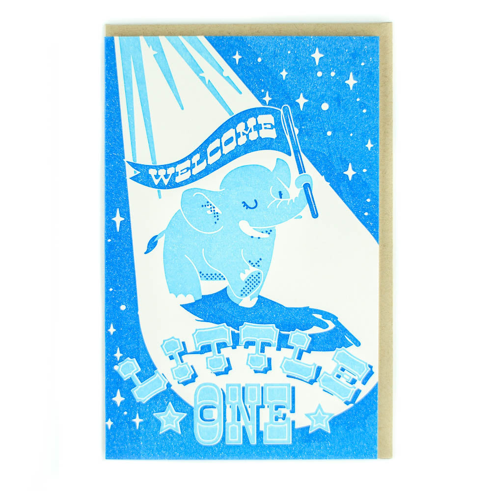 Pike Street Press - Greeting Card - Welcome Little One - Circus Elephant