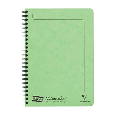 Clairefontaine - Notebook - Coiled - A5 - Lime Green