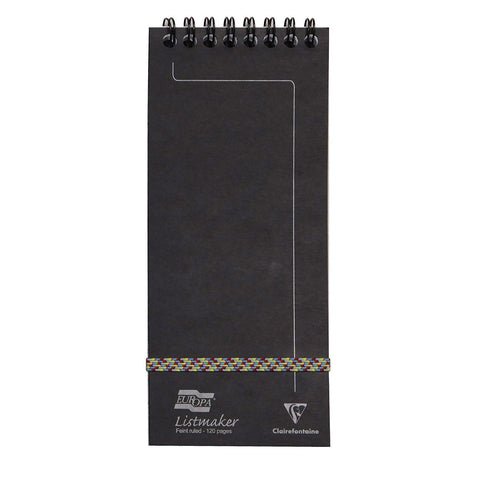 Clairefontaine - Notepad - Coiled - Listmaker - Black